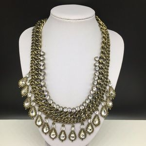 Clear Rhinestone Gold Tone Paparazzi Zi Necklace